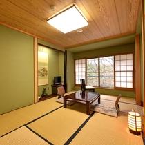 *【川側】和室7.5畳(トイレ付) こじんまりとした落ち着いたお部屋です。