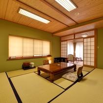 *【川側】和室10畳+広縁4畳(バス・トイレ付) お部屋の眼下には清流ゆびそ川が。