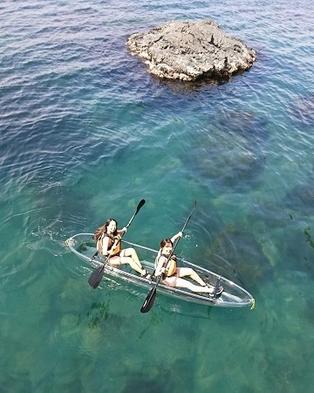 【クリアカヤック3時間コース】透明な海の中をのぞこう♪水中散歩と海遊び★<午後の部>特典付き