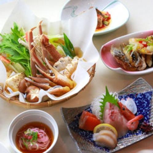 季節のお野菜とお鍋が付いたお腹いっぱい♪満腹海鮮プラン