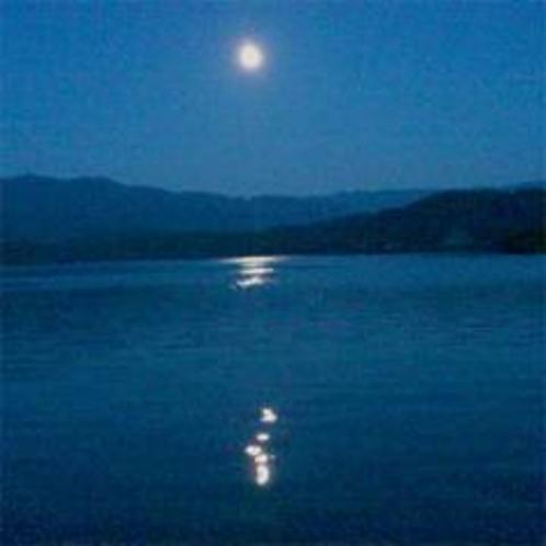 月夜の水月湖