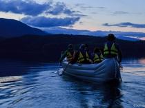 青木湖でホタルツアー