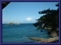 雲見海岸より眺める富士山