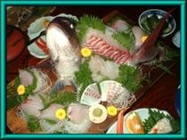 とーちゃんが釣った真鯛のお造り
