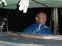 海老網漁に出発