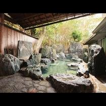 露天岩風呂◆19時以降は貸切でご入浴頂けます!