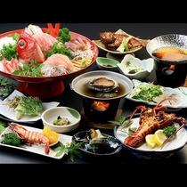 伊勢海老&アワビコース◆豪華食材を使ったお料理をご賞味ください。