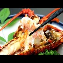 伊勢海老の鬼殻焼き◆殻つきのまま背開きにし、焼いたお料理です。