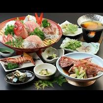 金目鯛姿煮コース◆贅沢に金目鯛を1匹使ったコースになります。