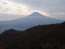 三つ峠頂上からの富士山