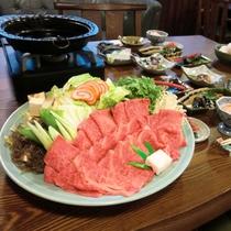 【飛騨牛すき焼】最高ランクの飛騨牛を贅沢にすき焼きで堪能!
