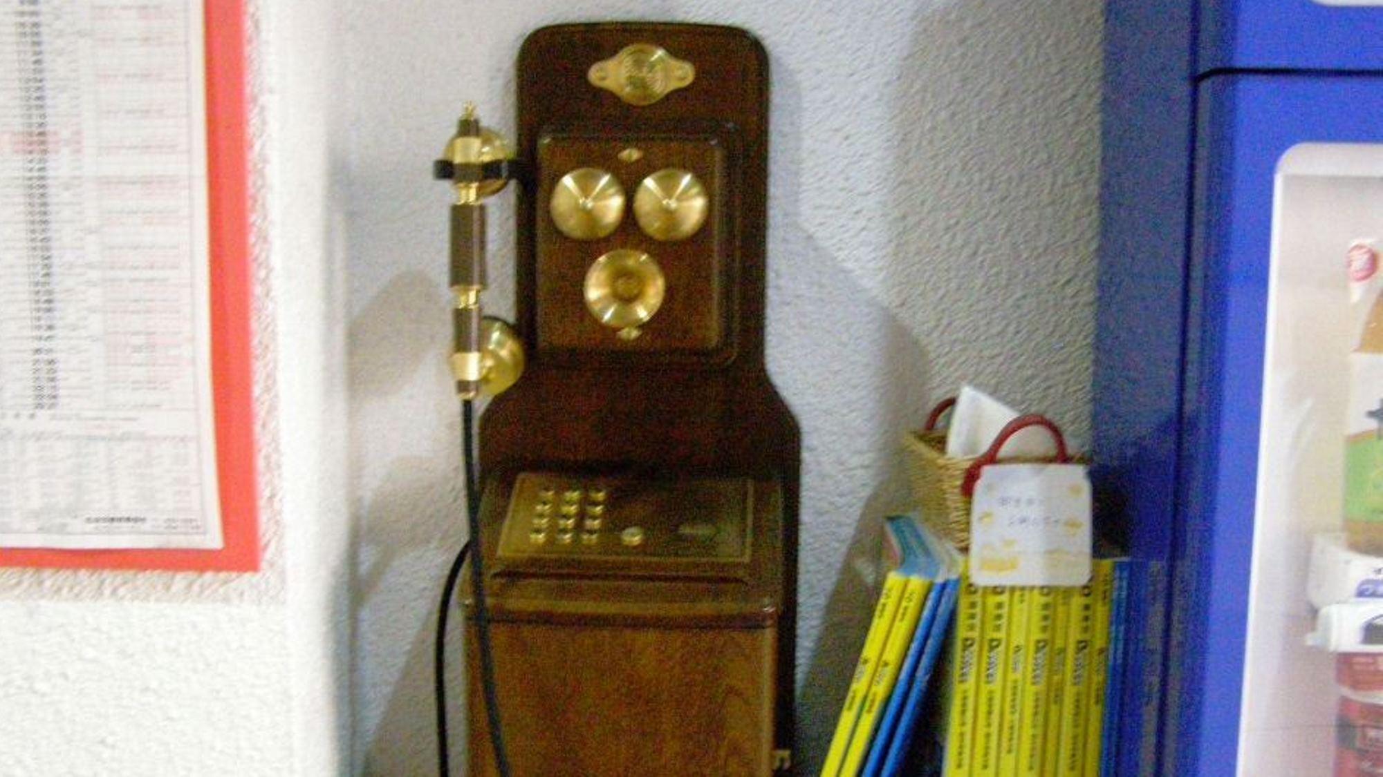 携帯電話の普及で出番が少なくなってますが、皆様のご到着にお出迎え♪
