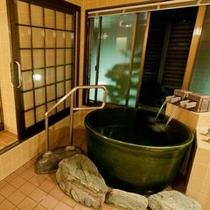 【東館・温泉付客室『風』】雰囲気のある客室温泉が癒してくれます