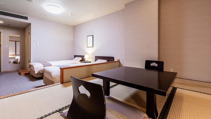 ◆東館◇和室6帖+ツインベッド】和洋室