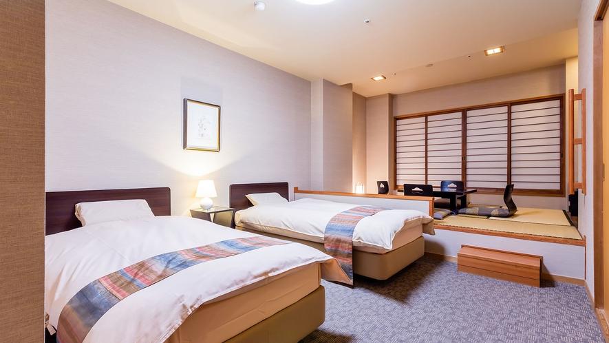 ◆【東館◇和室6帖+ツインベッド】和洋室
