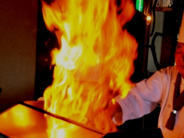 ステーキの焼き上がり