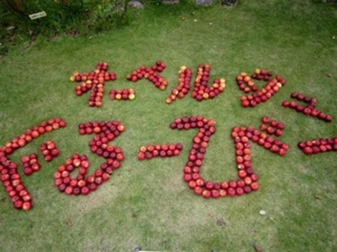りんご〔紅玉〕で字作りました