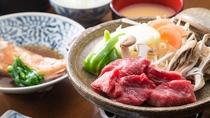 *<夕食一例>牛肉のサイコロステーキ