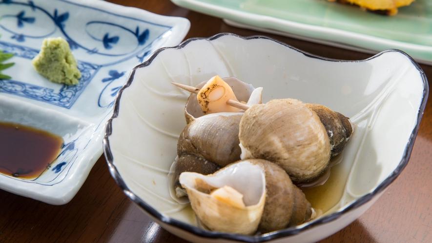 *<夕食一例>ばい貝の煮付け