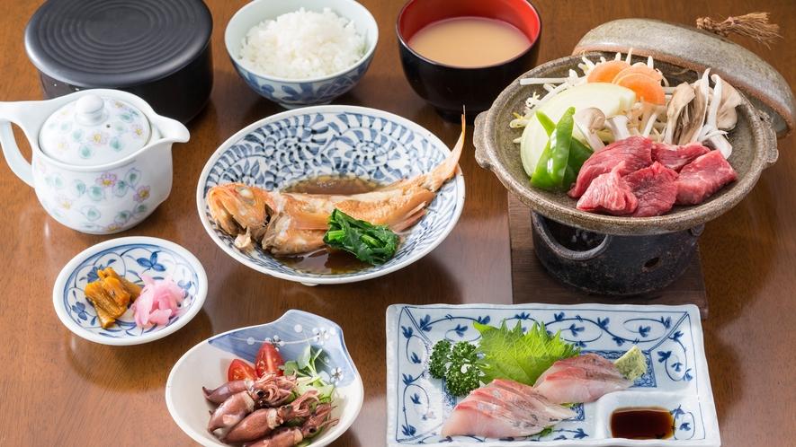 *<夕食一例>富山ならではの食材を中心に日替わりで登場☆