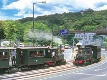 坊ちゃん電車&松山城