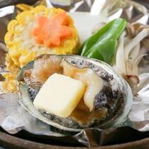 【夕食一例】アワビの踊り焼き