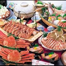 【夕食一例】カニフルコース(舟盛付き)