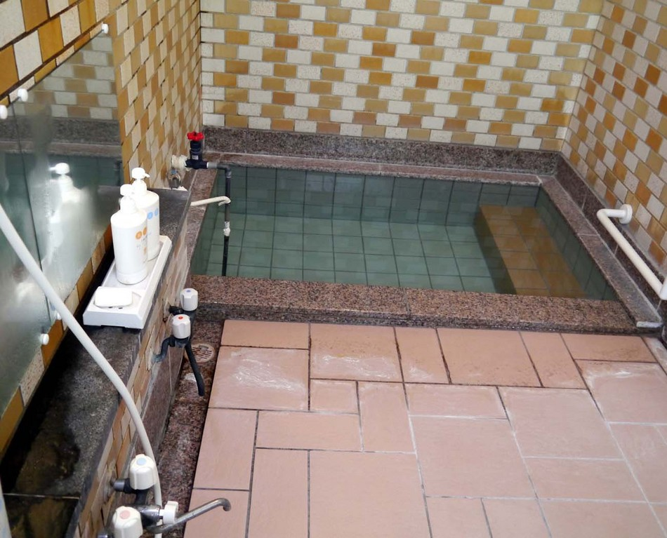洗い場が3個、シャワーが2個、ボディーシャンプー・シャンプー付き