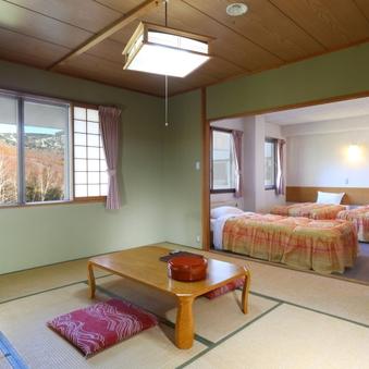 【ベッドルーム+10畳】 2間でゆったり寛ぐ 広々和洋室