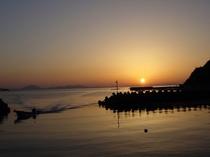 若狭湾に沈む夕日