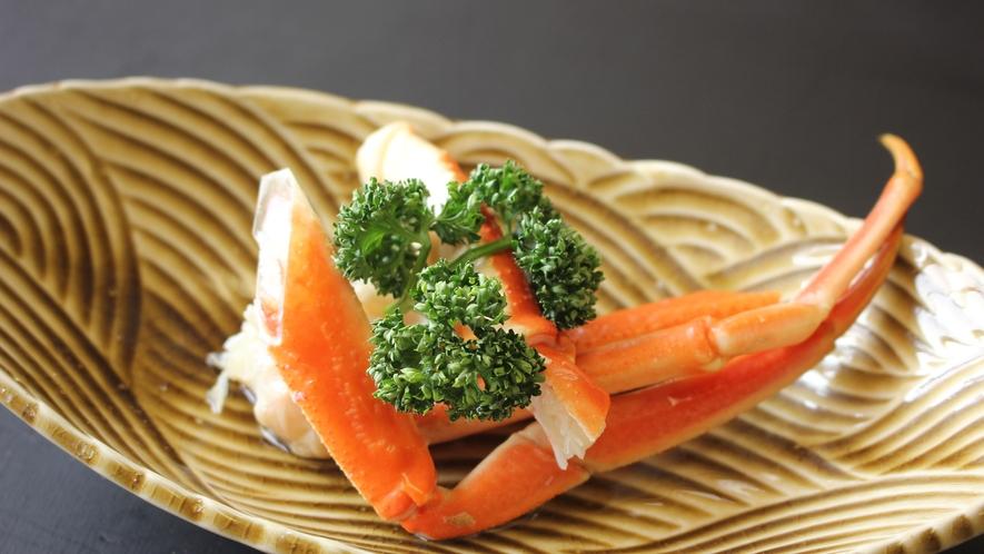 日本海の美味しいカニをご賞味ください。