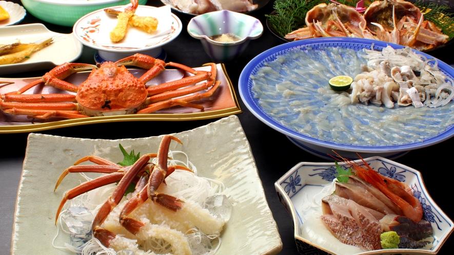 若狭の冬の黄金コンビ≪蟹&河豚≫どちらもお腹いっぱい堪能できる贅沢♪この時期限定!当館一押しです!