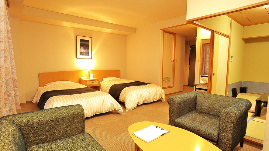 富貴亭和洋室(2ベッド+和室6畳