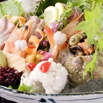 日本海の鮮魚「お造り」