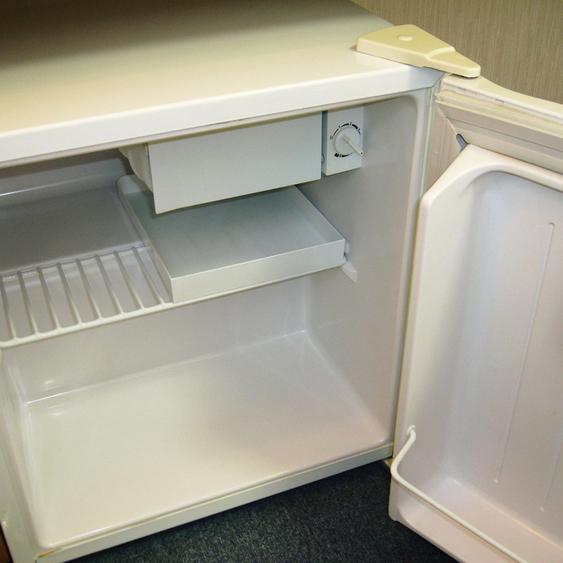 お部屋には空冷蔵庫完備