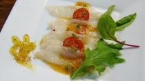 *【夏のお料理一例】河豚のカルパッチョ