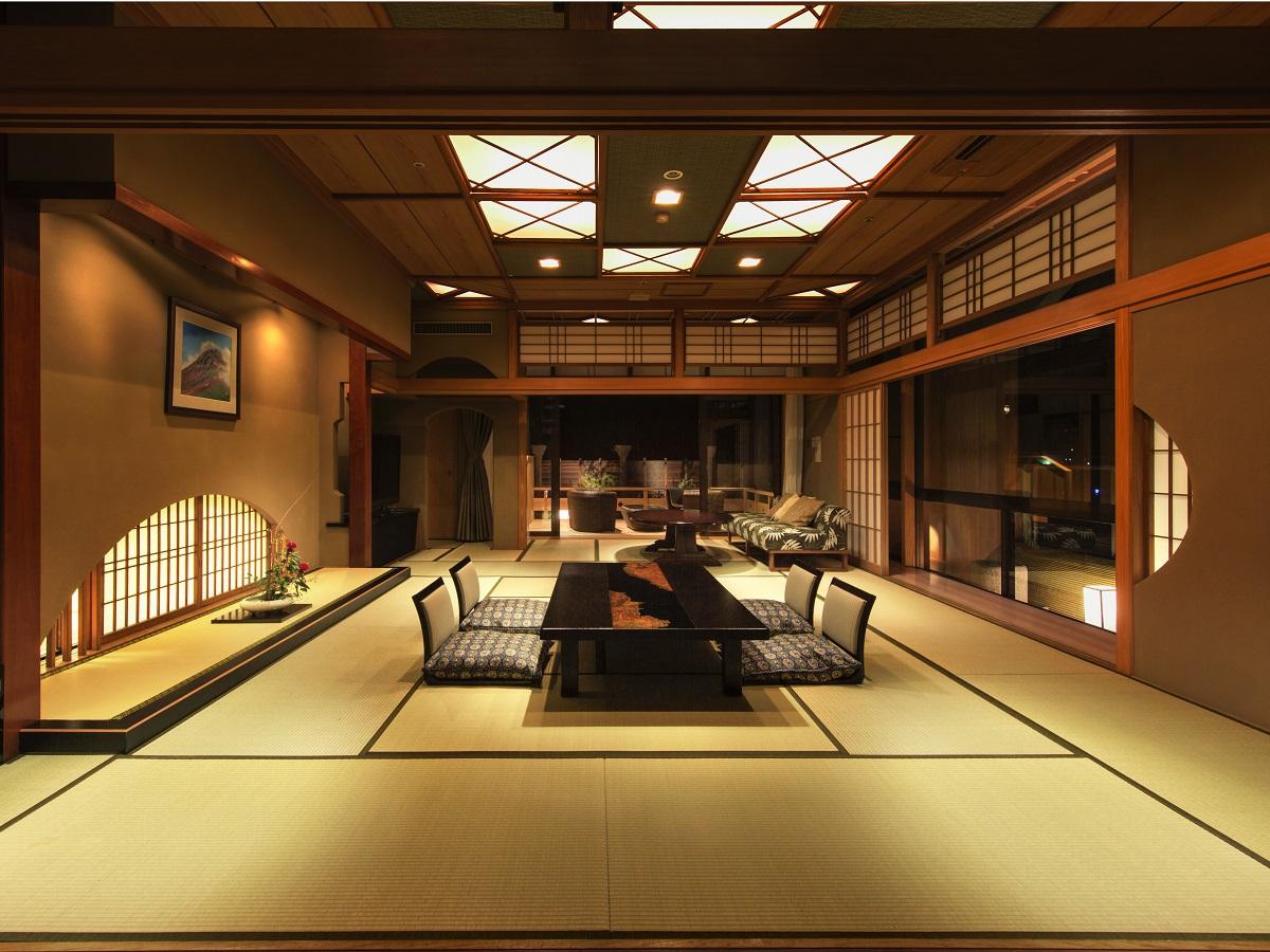 【禁煙】貴賓室15畳+8畳+8畳+ツイン+専用ダイニング+露天風呂+テラス