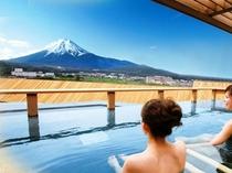絶景の屋上露天風呂「富士山」※男女入れ替え制