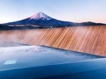 露天風呂から望む富士山(露天風呂富士山)