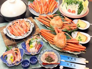 【日帰り4時間♪】お腹いっぱい≪香住ガニ(紅ズワイ)≫カニ刺し付★贅沢フルコース
