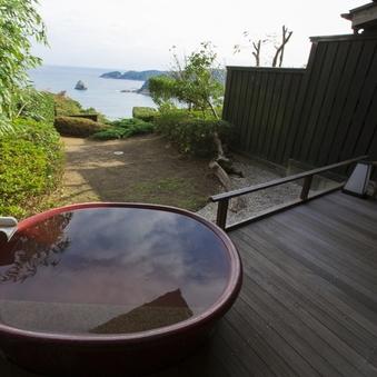 【海側&庭園付】源泉掛け流し露天風呂付客室【陶器】<禁煙>