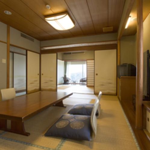 【和室2間(12畳+6畳)】和室12畳と6畳の2つのお部屋がある、広々としたお部屋。