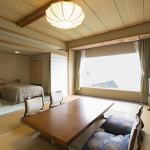 【コーナースイート】和室10畳+ツインのベットルーム。