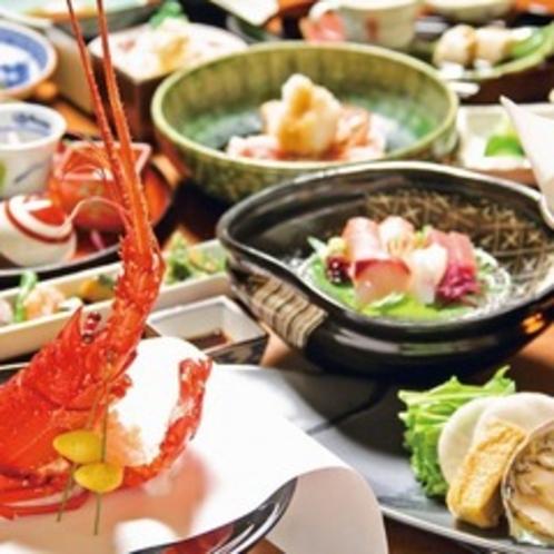 【ご夕食一例】伊豆近海の新鮮な海の素材や旬の幸を活かした料理