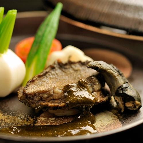 【ご夕食一例】鮑の踊り焼き※別注料理