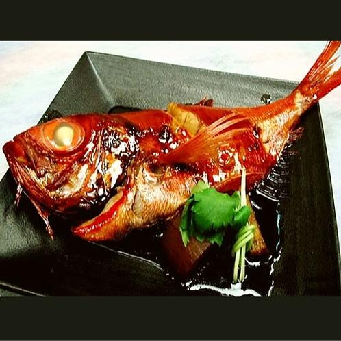 【ご夕食一例】下田が誇る金目鯛の姿煮をぜひ!