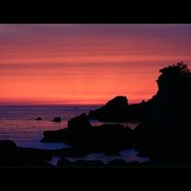 丹後半島の海と夕日