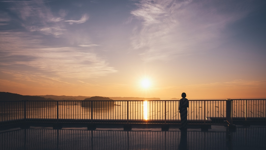 ★屋上から見る日の出はまさに絶景!