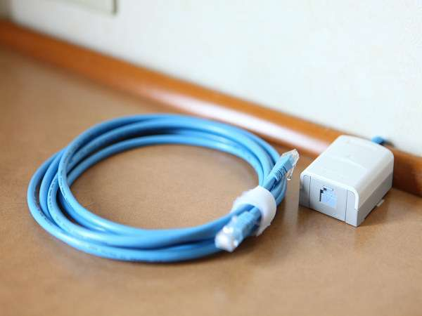LANケーブルと接続口