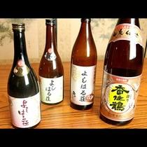地酒とオリジナル焼酎